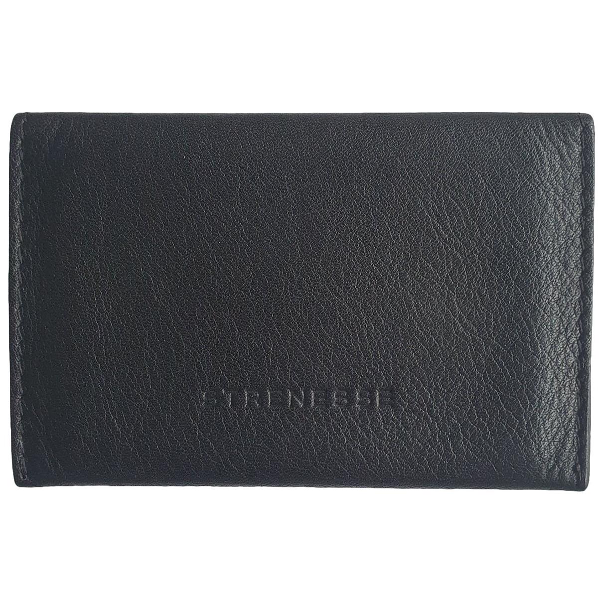 Strenesse \N Portemonnaie in  Schwarz Leder