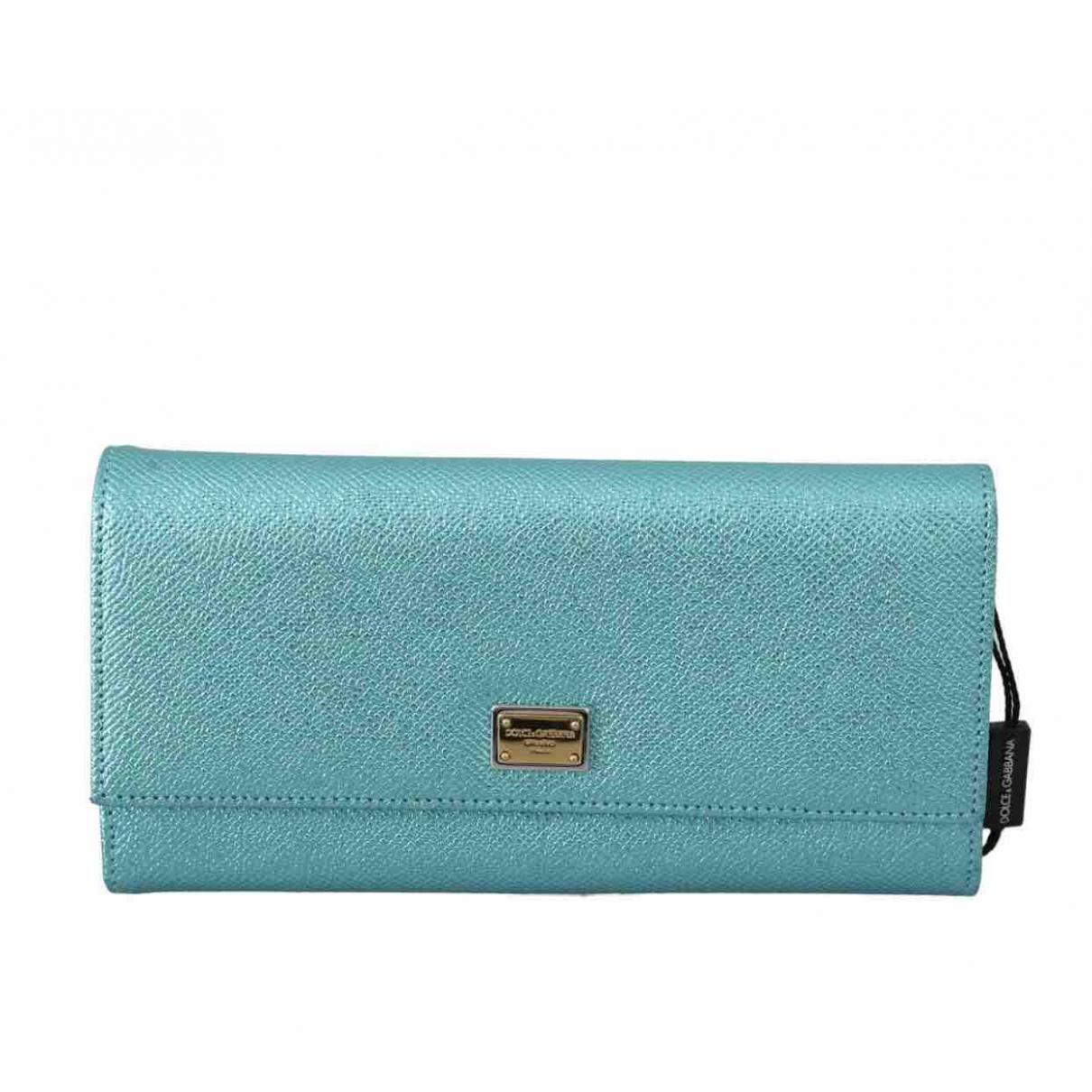 Dolce & Gabbana - Portefeuille   pour femme en cuir - bleu