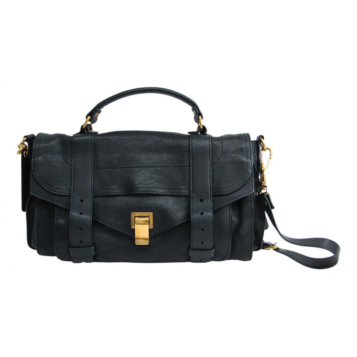 Proenza Schouler \N Handtasche in  Marine Leder