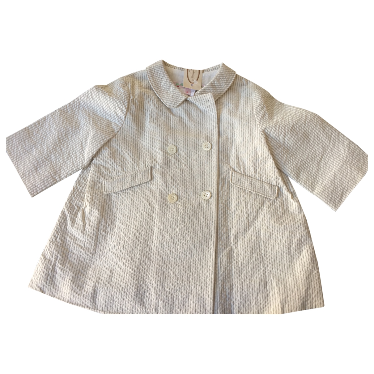 Bonpoint \N White Cotton jacket & coat for Kids 6 months - up to 67cm FR