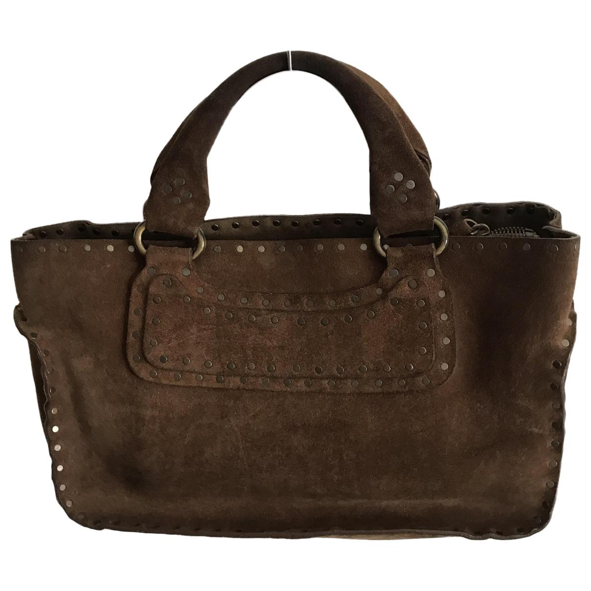 Celine Boogie Handtasche in  Braun Veloursleder