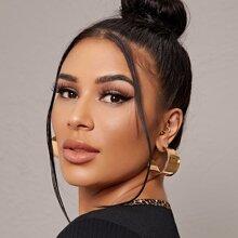 Wide Cuff Hoop Earrings