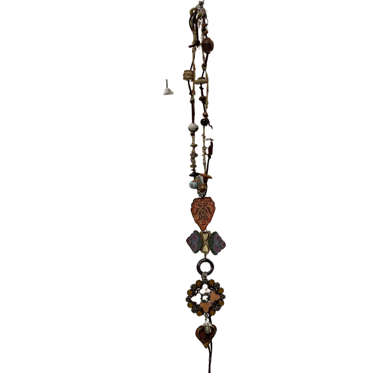Reminiscence \N Halskette in  Braun Silber