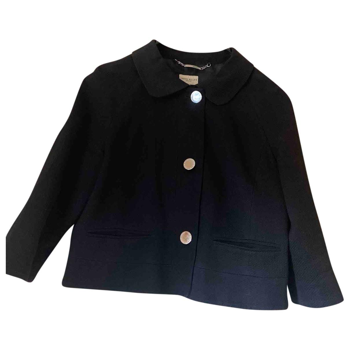 Karen Millen \N Black Cotton jacket for Women 10 US