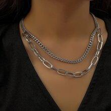 Minimalistische Halskette mit Kette