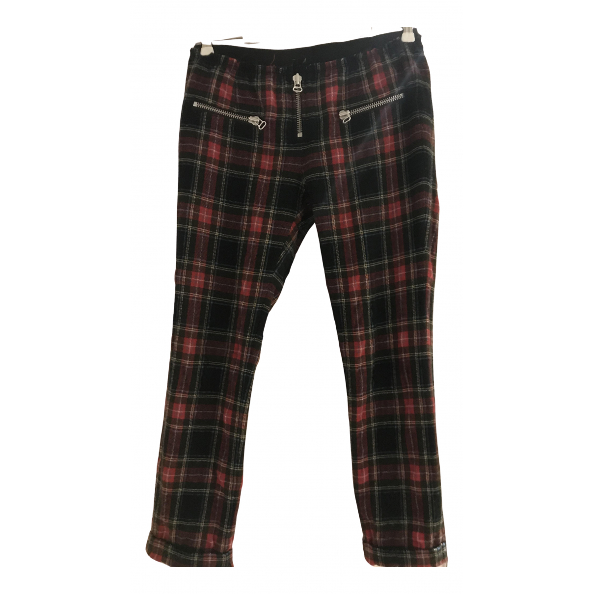 Isabel Marant Etoile N Red Wool Trousers for Women 1 0-5