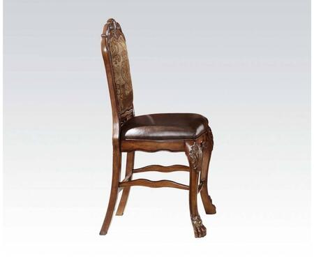 BM177831 Wooden Counter Height Chair   Cherry Oak Brown  Set of