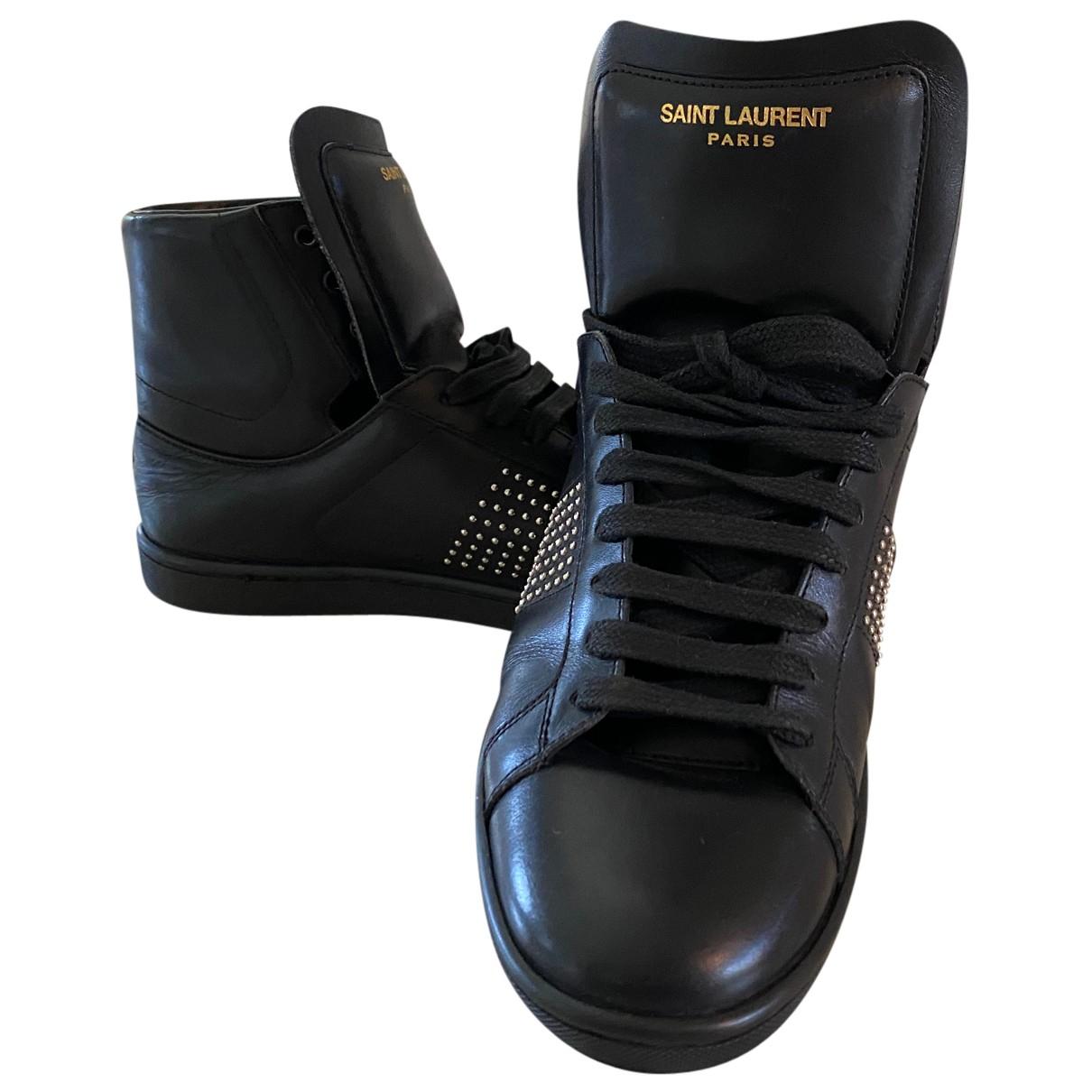 Yves Saint Laurent - Baskets   pour femme en cuir - noir