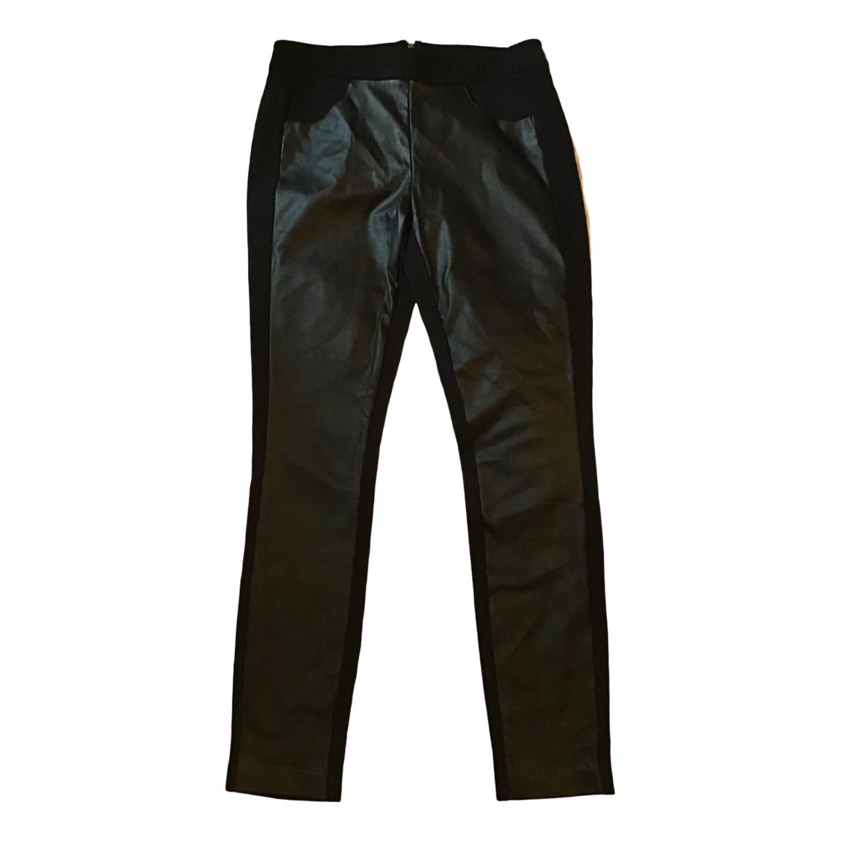 J.crew - Pantalon   pour femme en cuir - noir
