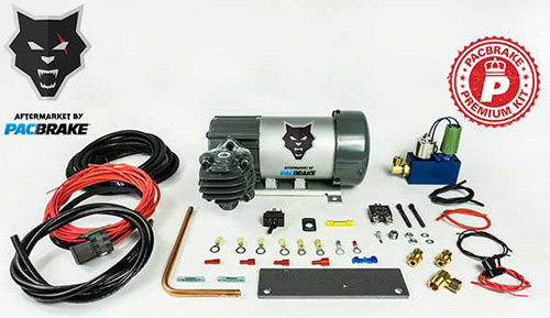 Pacbrake HP10628 12V HP625 Series Heavy Duty Air Compressor Kit W/HP10625H Air Compressor The Entire Unloader Block Assembly Kit W/Pre-Built Harnesses