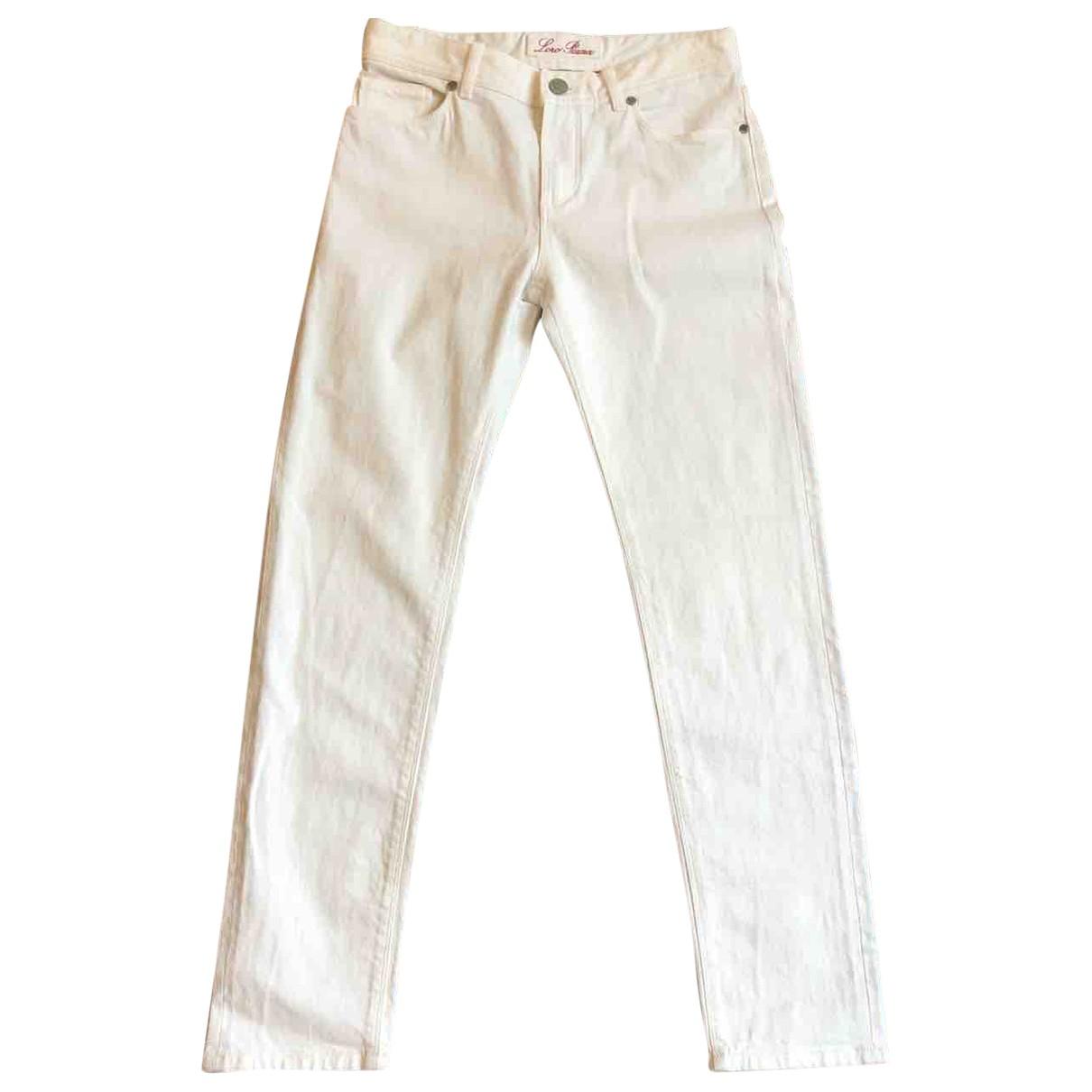Loro Piana \N Ecru Cotton Jeans for Women 40 IT
