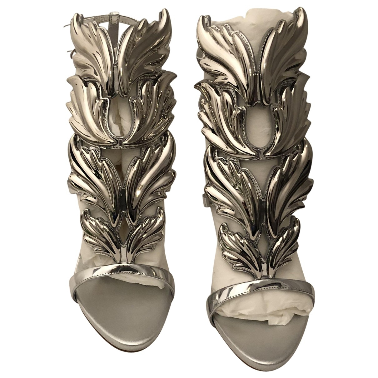 Giuseppe Zanotti \N Silver Leather Sandals for Women 38 EU