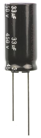 Panasonic 33μF Electrolytic Capacitor 450V dc, Through Hole - EEUED2W330 (5)