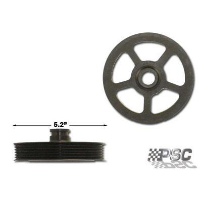 PSC Steering 5.2 GM Vortec Serpentine 6 Rib P,N,CB Series Pump Pulley - PP2455