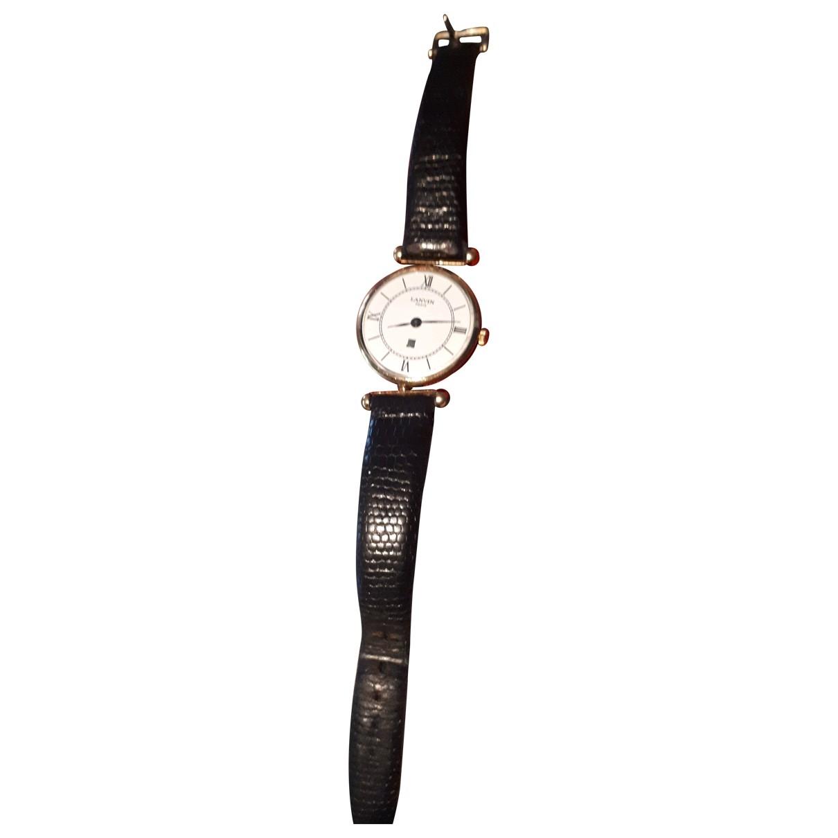 Lanvin \N Uhr in  Weiss Vergoldet