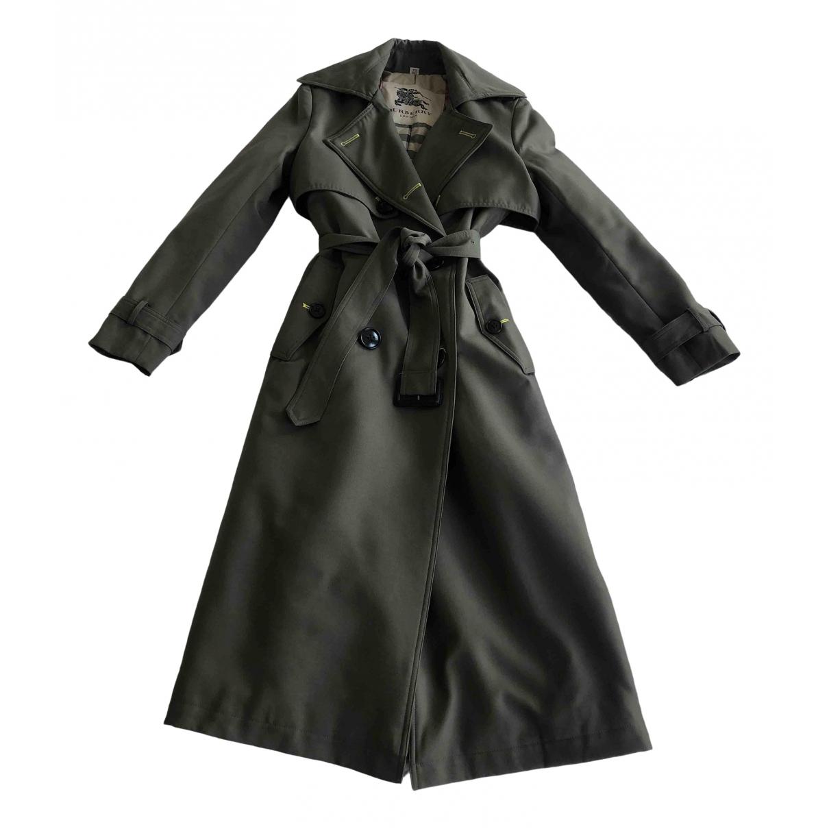 Burberry \N Khaki Cotton Trench coat for Women 32 FR