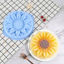 1 Stueck zufaellige Kuchenform mit Sonnenblumen Design