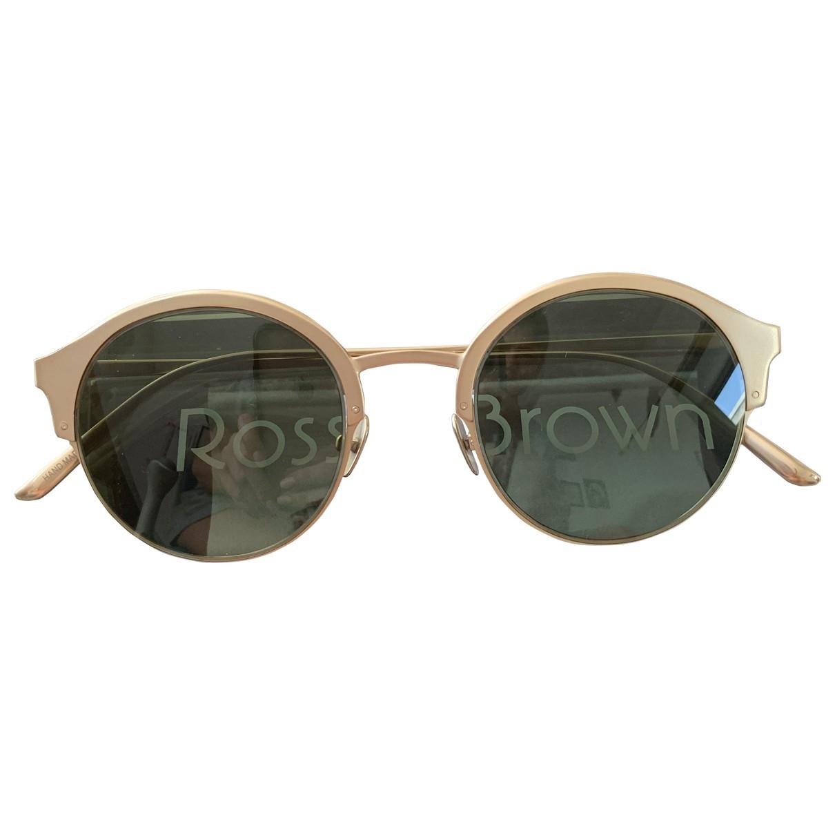 Ross & Brown \N Gold Metal Sunglasses for Women \N