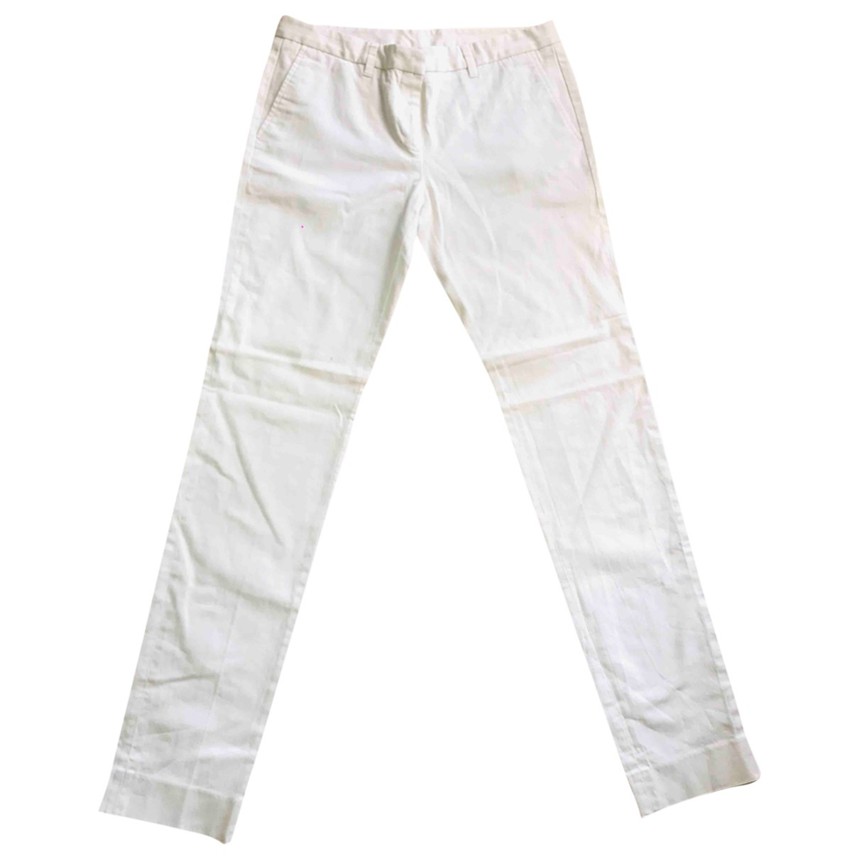 Mauro Grifoni \N White Cotton Trousers for Women 44 IT