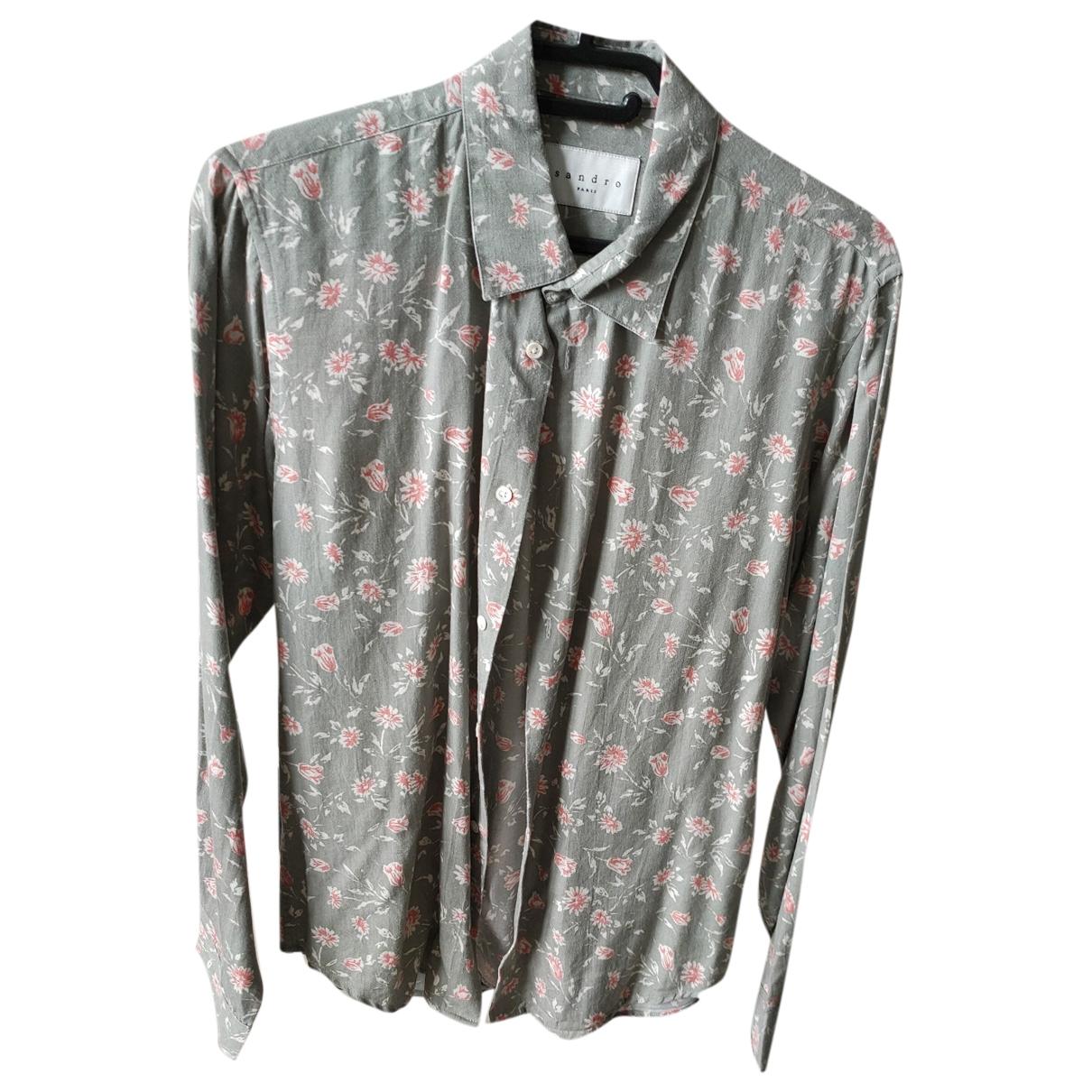 Sandro \N Green Cotton Shirts for Men XS International