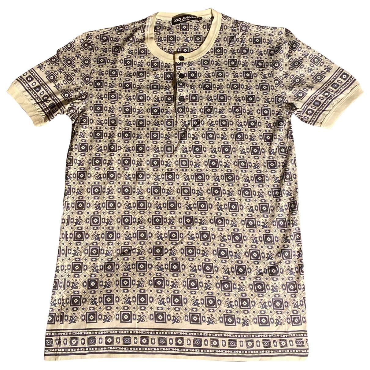 Dolce & Gabbana \N T-Shirts in  Ecru Baumwolle