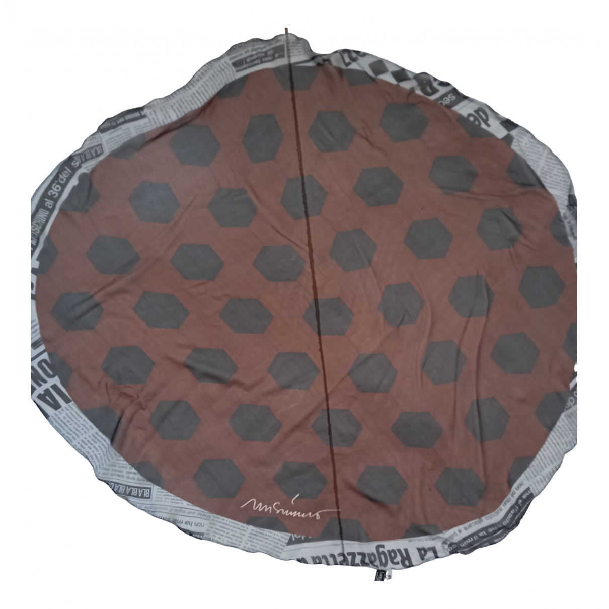 Moschino - Foulard   pour femme en soie - marron