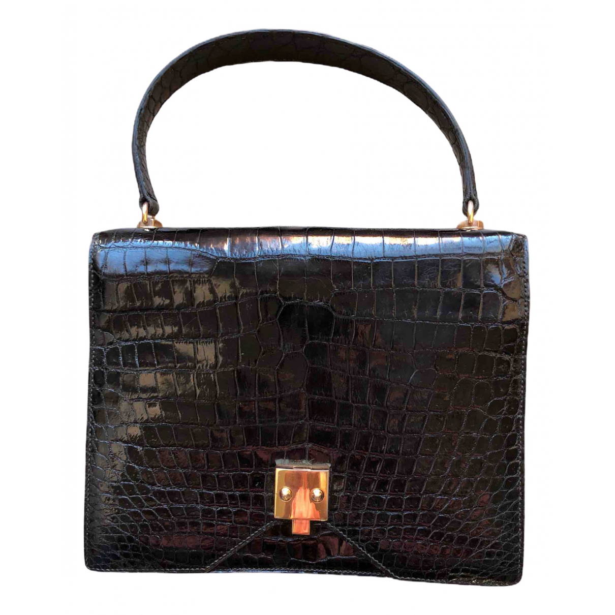 Hermès \N Black Crocodile handbag for Women \N
