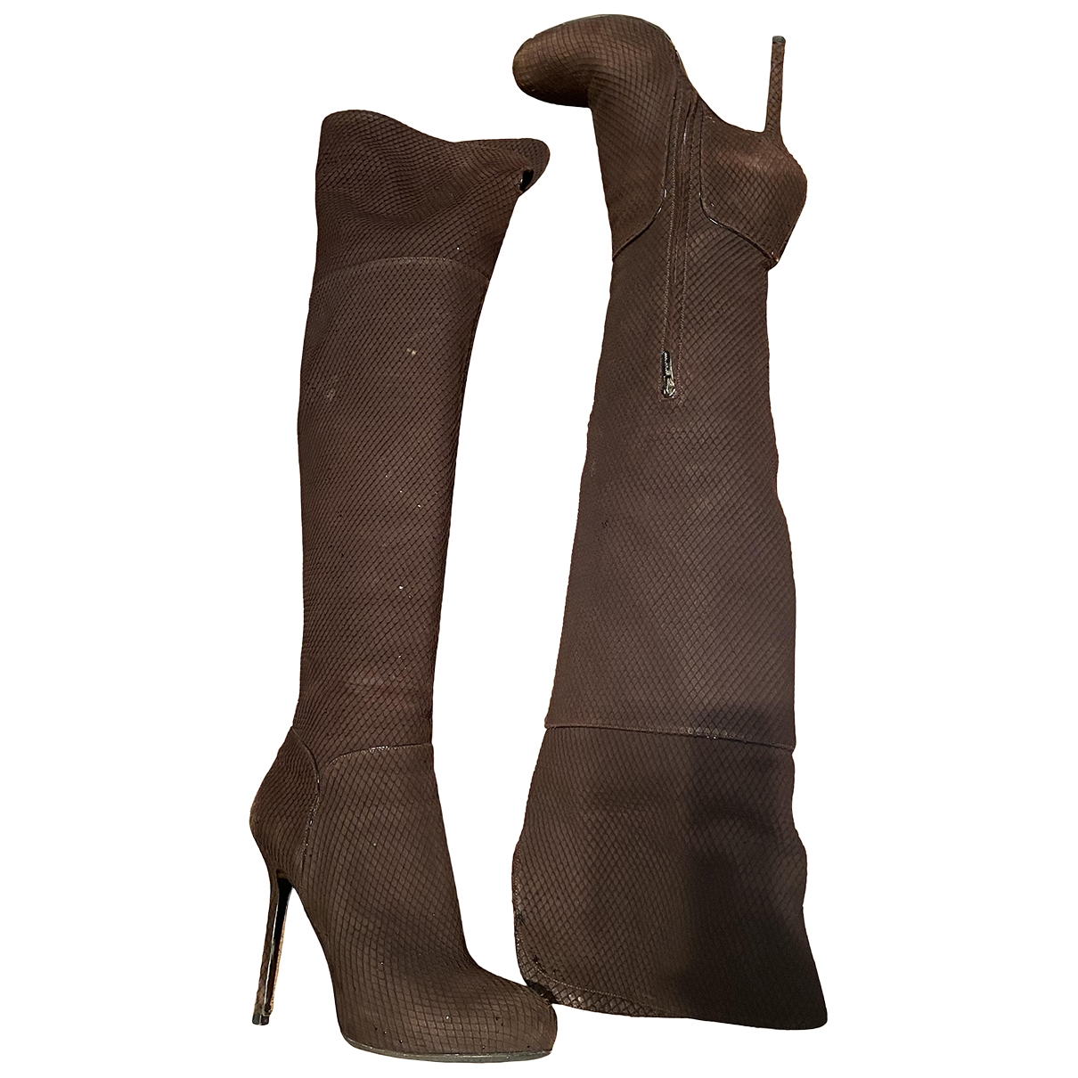 Sergio Rossi \N Brown Leather Boots for Women 39 EU