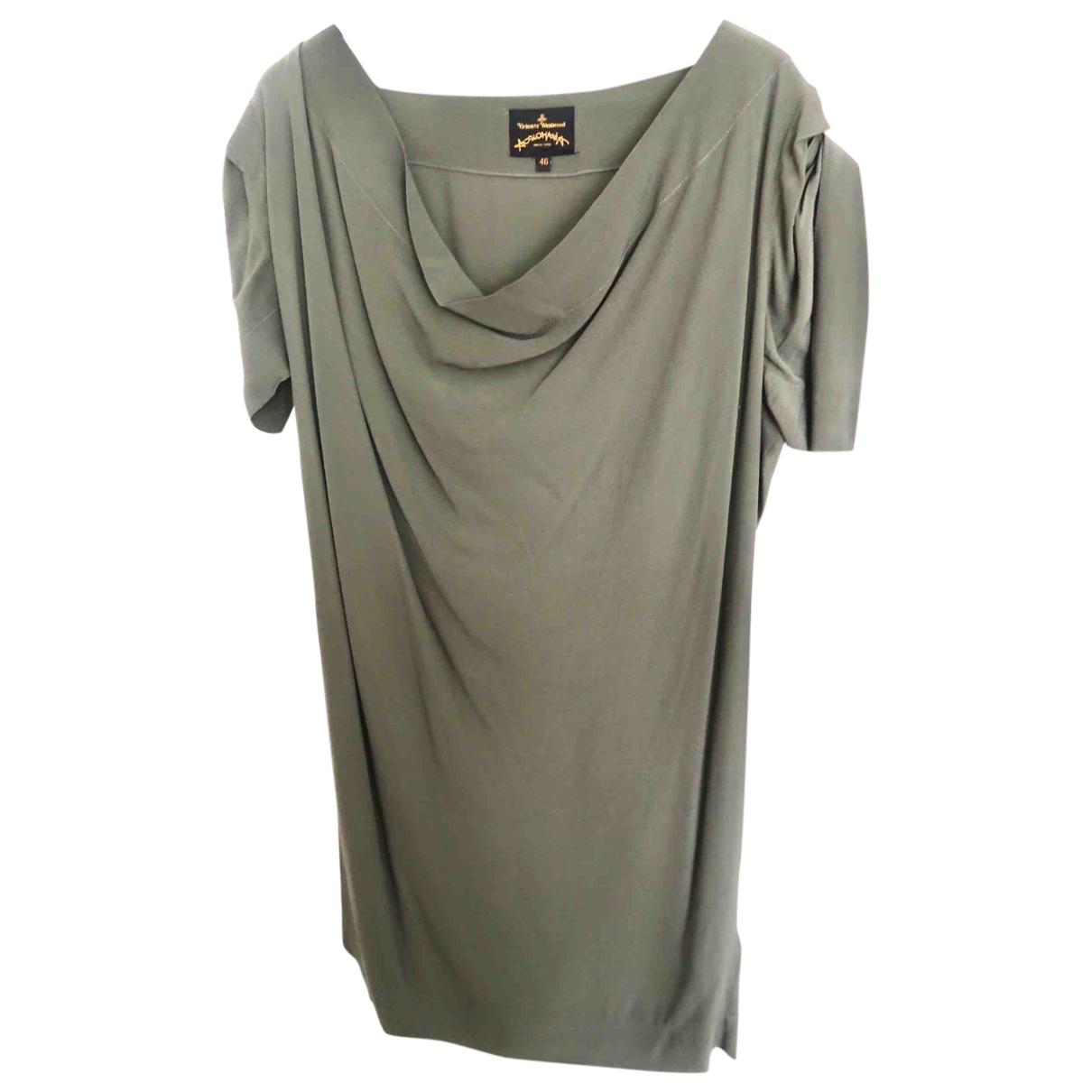 Vivienne Westwood Anglomania \N Kleid in  Gruen Viskose