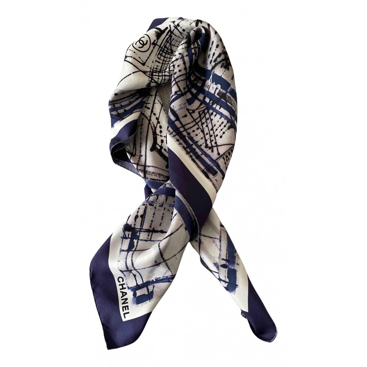 Chanel N Blue Silk Silk handkerchief for Women N