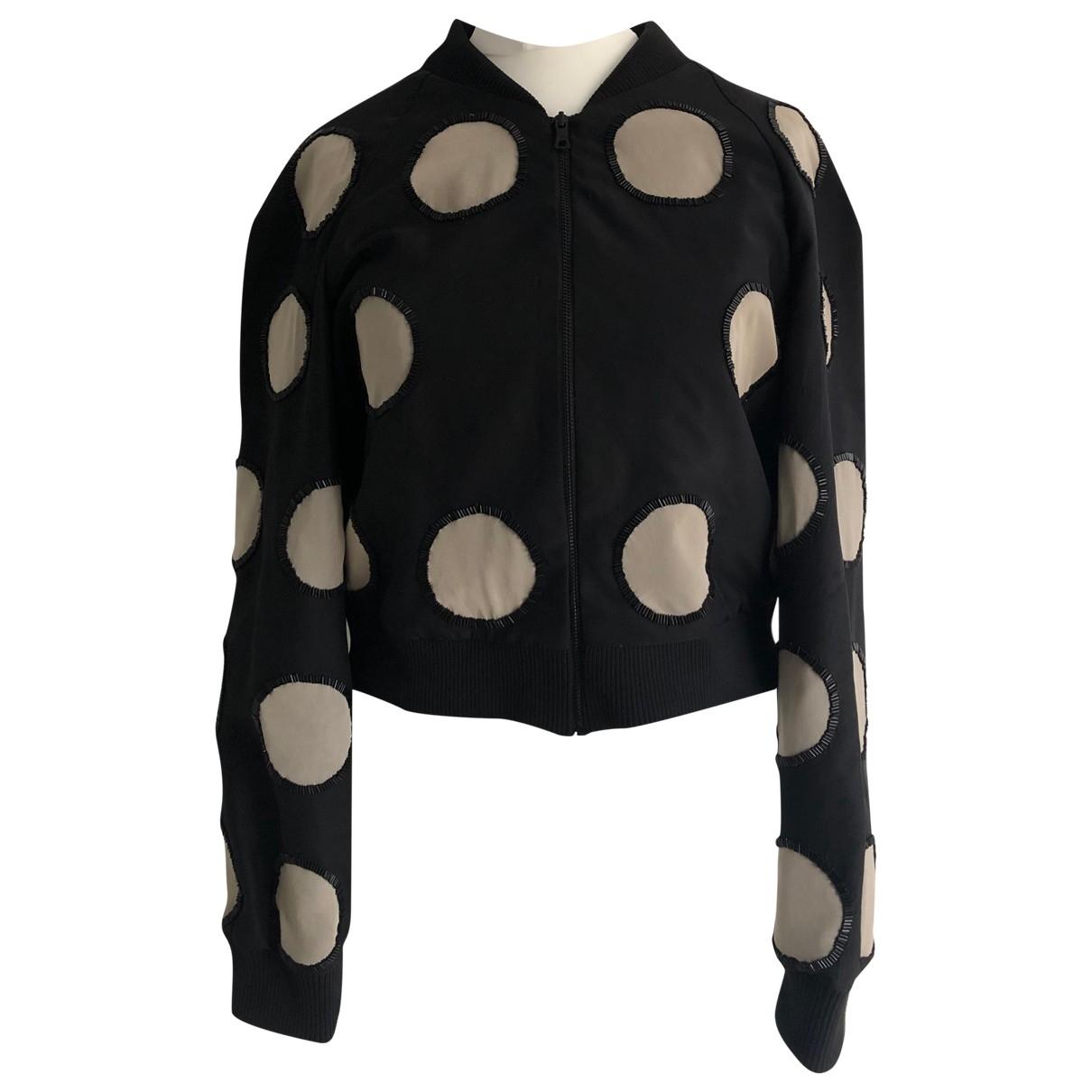 Alice & Olivia \N Black Silk jacket for Women S International