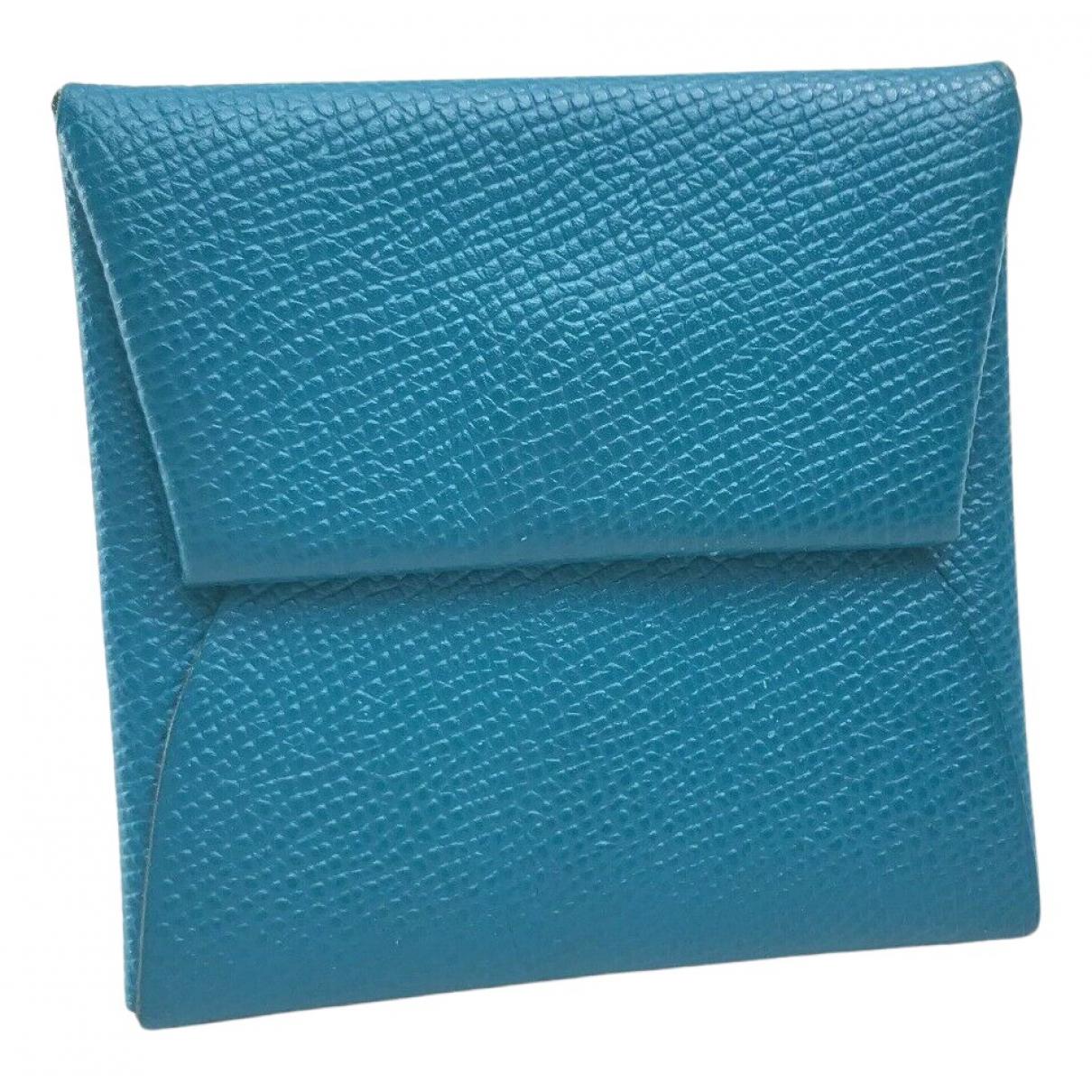 Hermes - Petite maroquinerie Bastia pour femme en cuir - bleu