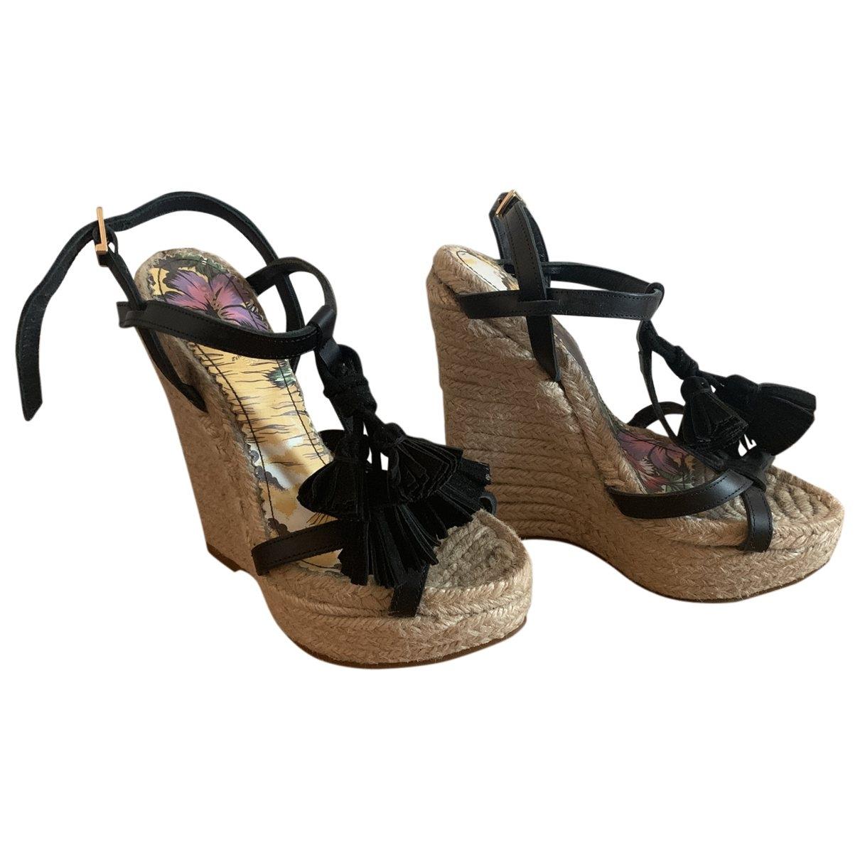 Dsquared2 \N Black Cloth Sandals for Women 37 EU