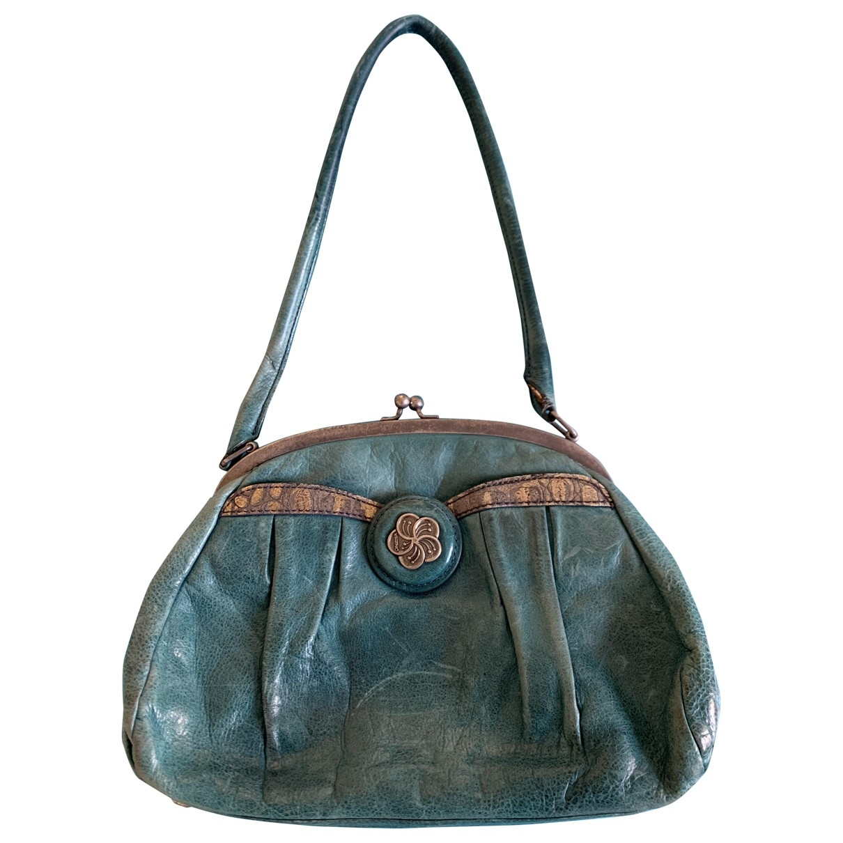 Kenzo \N Handtasche in  Tuerkis Leder
