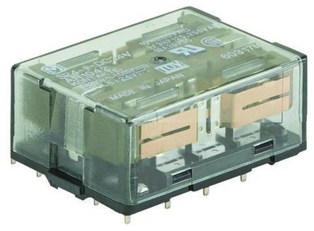 Panasonic 4PDT Non-Latching Relay PCB Mount, 12V dc Coil, 10 A