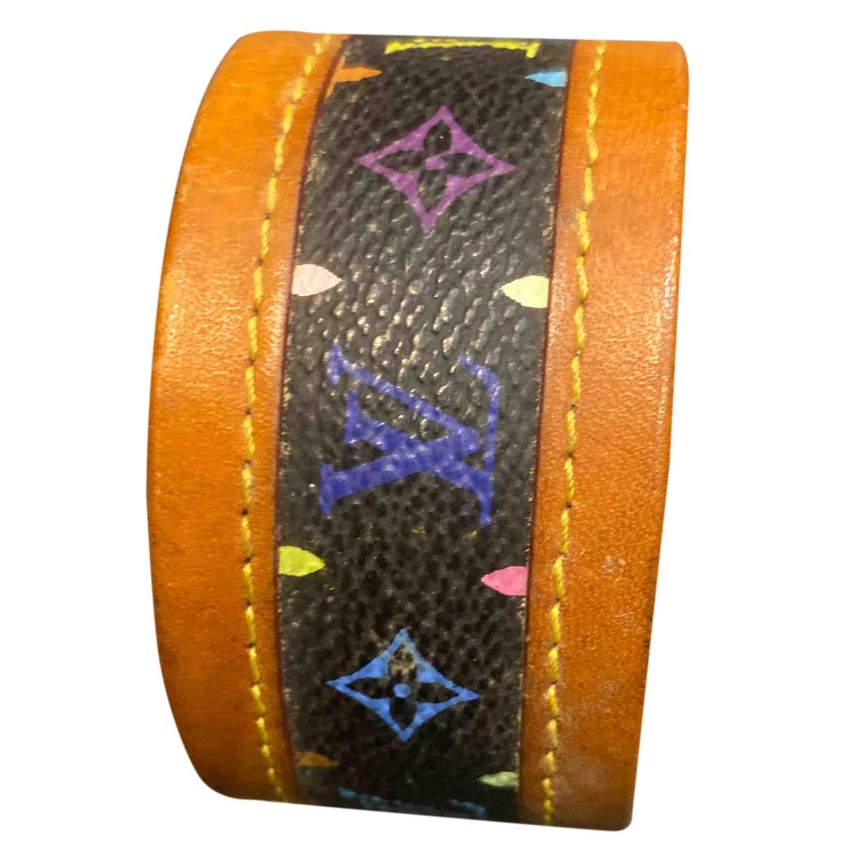Louis Vuitton \N Armband in  Schwarz Leinen
