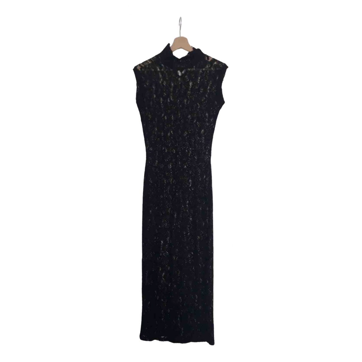 Non Signé / Unsigned N Black Lace dress for Women L International