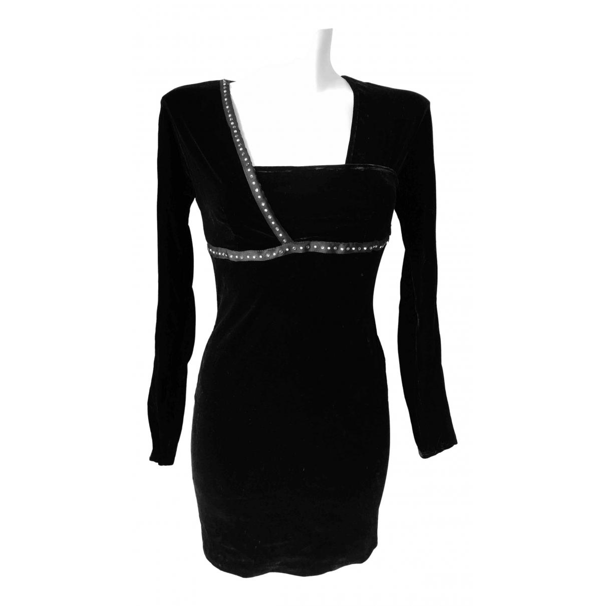 Versace Jeans \N Kleid in  Schwarz Samt