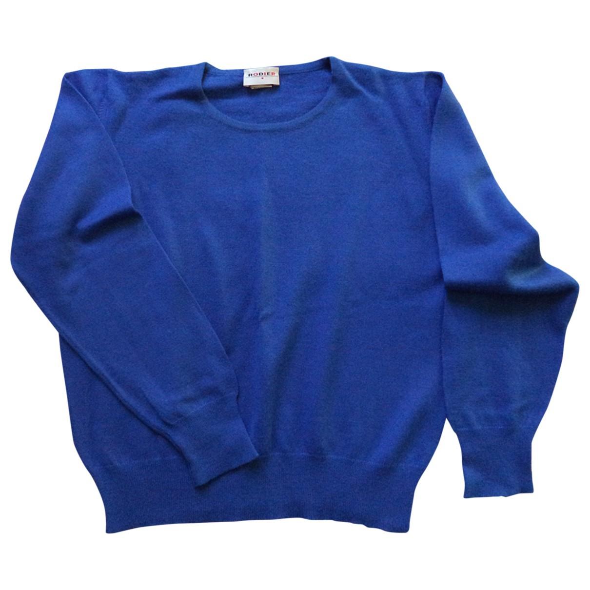 Rodier - Pull   pour femme en laine - bleu