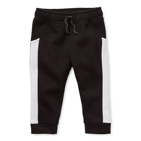 Okie Dokie Fleece Baby Boys Cuffed Jogger Pant, 18 Months , Black