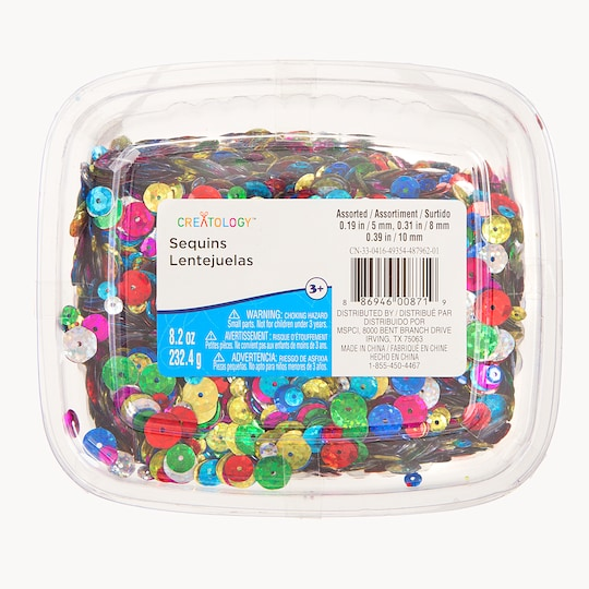 Holographic Round Cup Sequin Tub By Creatology™ | Michaels®