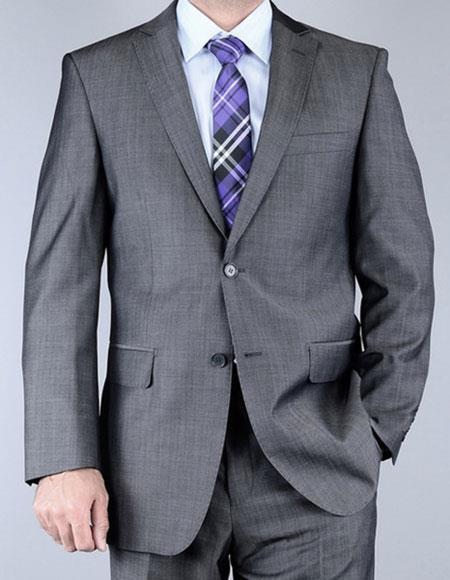 Men's Sharkskin Single Breasted Wool Giorgio Fiorelli Brand suits