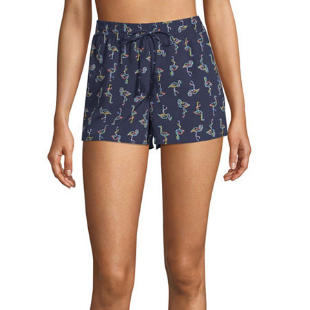 City Streets Shorts Swimsuit Cover-Up Juniors, X-large , Blue