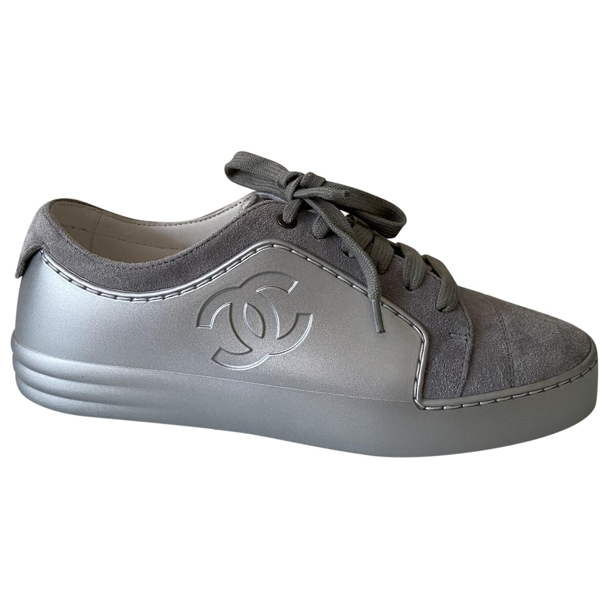Chanel \N Grey Rubber Trainers for Women 35.5 EU