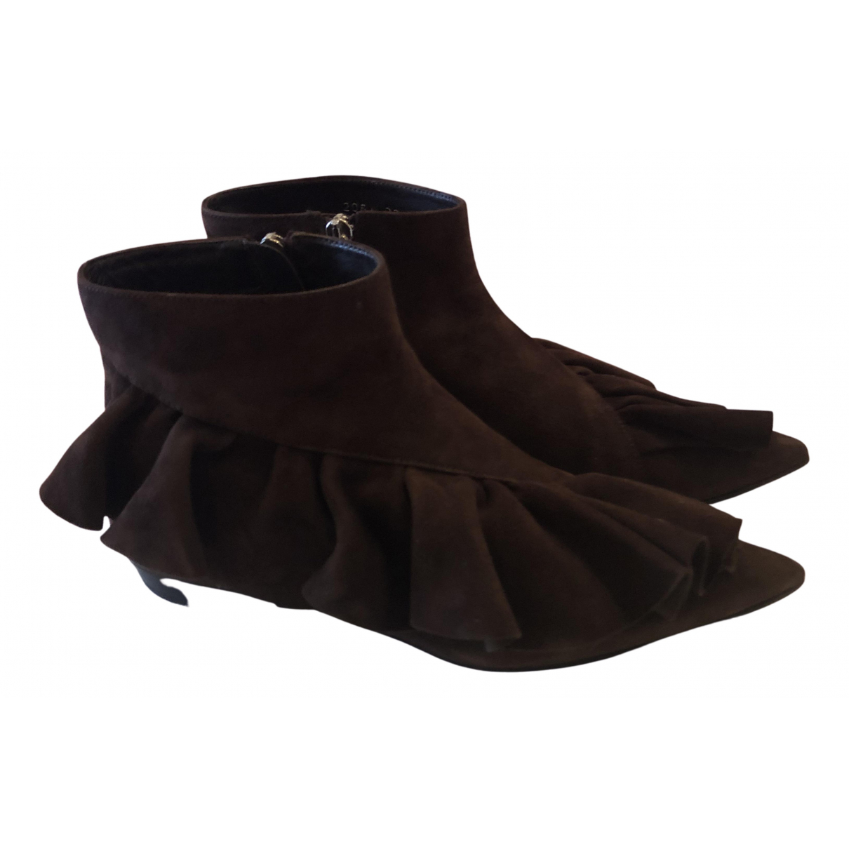 J.w. Anderson N Brown Suede Ankle boots for Women 39 EU