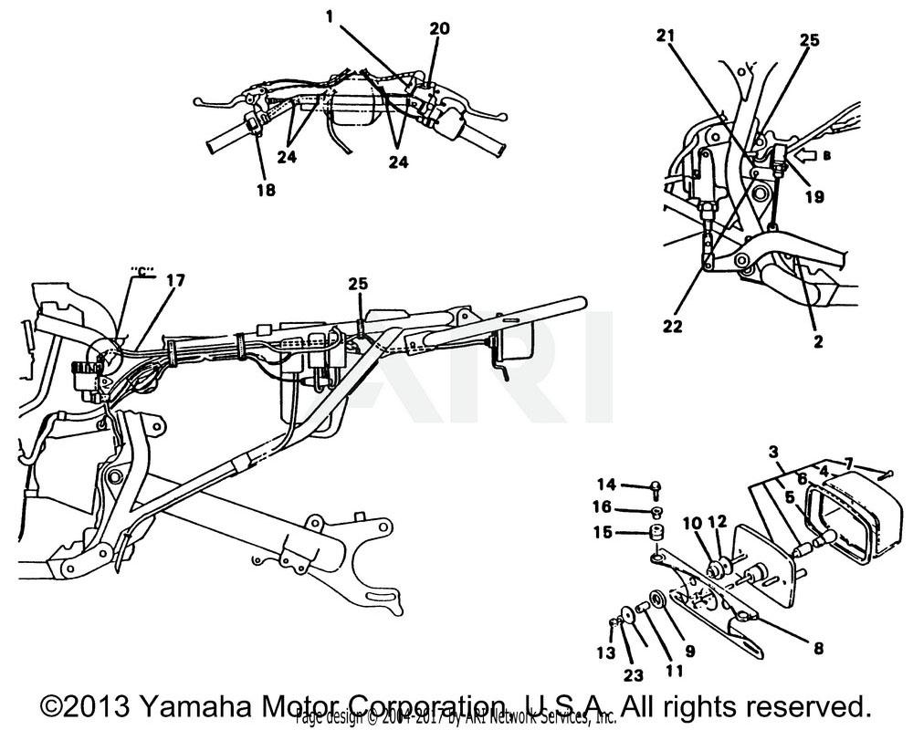 Yamaha OEM 3HN-82530-13-00 STOP SWITCH ASSY
