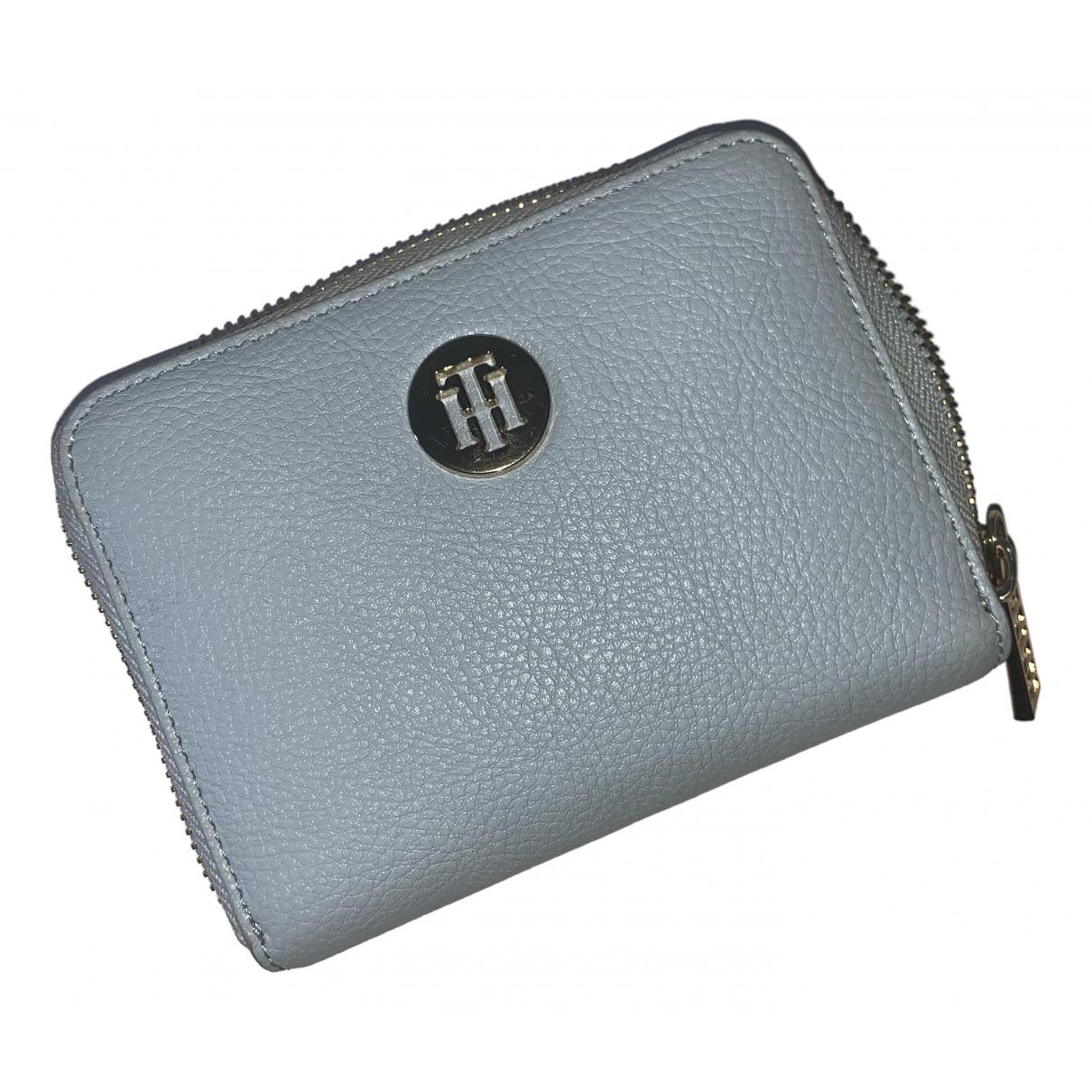 Tommy Hilfiger - Portefeuille   pour femme en cuir - bleu