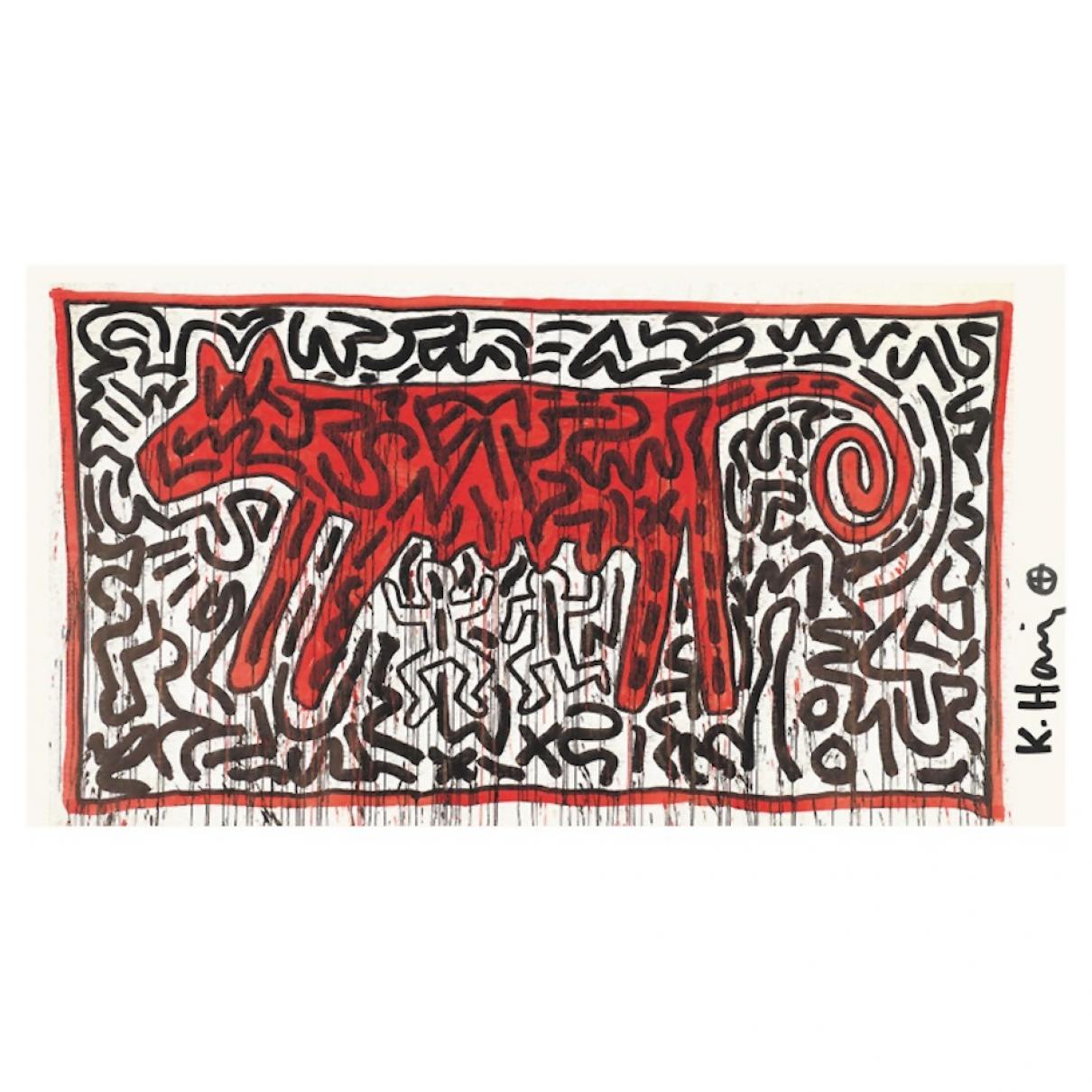 Keith Haring \N Design in  Bunt Kunststoff
