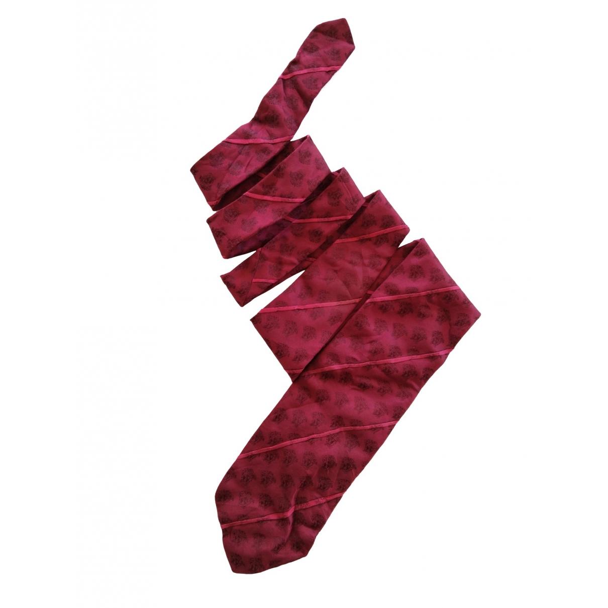 Versace \N Krawatten in  Rot Seide