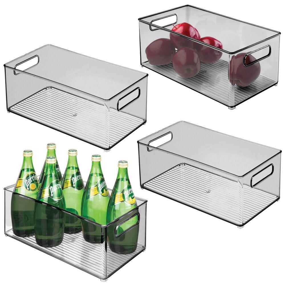 Large Plastic Kitchen Pantry & Fridge Food StorageSmoke in Gray, 14.5